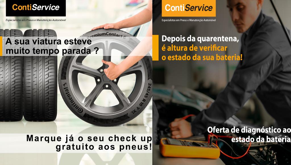 Pontos de venda ContiService oferecem <em>check-up</em> a pneus e baterias