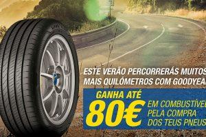 Goodyear oferece até 80 € na compra de pneus