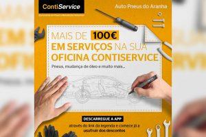 ContiService oferece vouchers de 100€ para pneus